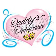 Kids Youth Cute Tshirt Daddy's Princess Crown Baby Girl Daughter Father Dad Pink