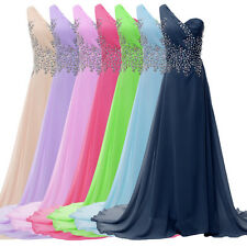 2014 Sexy Long Evening Formal Bridesmaid Wedding Ball Gown Prom Party Dress 8SZ