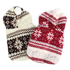 Xmas Dog Clothes Pet Puppy Snowflake Sweater Hoodie Winter Apparel Coat Outwear