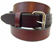 Rich brown Leather Belt Hand Crafted in the USA 1 1/2