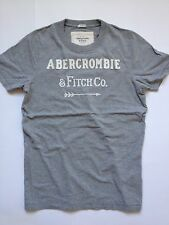 "NWT ABERCROMBIE T-SHIRT ""HENDERSON LAKE"" Mens Heather Gray Hollister Tee Arrow"
