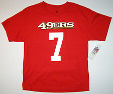 NFL San Francisco 49ers Colin Kaepernick Youth Red Name and Number Shirt