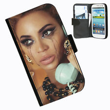 Beyonce Protective Leather wallet phone case for Samsung Galaxy S3 mini Phone