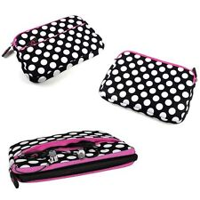 """Universal Polka Dot Soft Sleeve Pouch Case for 7.5"""" 7.9"""" 8"""" 9.5"""" 9.7"""" 10""""Tablet"""