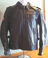 Genuine Indian Motorcycle Men's Throttle Leather Riding Jacket Plaid Liner