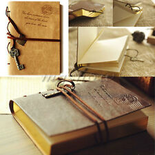 Retro Classic Vintage Leather Key Blank Diary Journal Sketchbook Notebook New