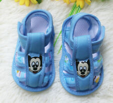 Blue baby Girl boy shoe Mickey Cotton cloth shoes Soft bottom fit 3-14 month