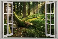 Huge 3D Window Enchanted Forest View Wall Stickers Mural Art Decal Wallpaper