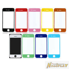 New Top LCD Front Outer Screen Glass Lens Cover Replace For iPhone 4 4G GSM CDMA