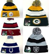 New Era NFL Sport Knit On Field Sideline Cuff Fleece Lining Beanie Pom Hat Cap