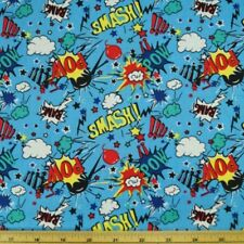 Super Hero Smash Bang Pow Sound Effects 100% Cotton Fabric