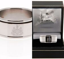 NEWCASTLE UNITED FC STAINLESS STEEL SPINNER BAND RING COMPLETE IN GIFT BOX NUFC