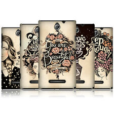 HEAD CASE INTROSPECTION HARD BACK CASE COVER FOR SONY XPERIA E DUAL C1605 C1505