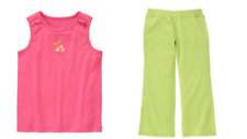 Gymboree Tea Time Afternoon Outfits Shirt Shorts Yoga Pants 4,5,6,7,8,9,10,12