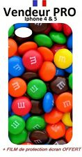 ★★★Coque HOUSSE iphone 4/4s & 5/5s-Bonbon M&M's DESIGN mms Chocolat★★★