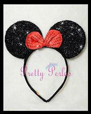 Minnie Mouse Headband Bows Sequin Shimmer-Party-Disney-Birthday- count 1