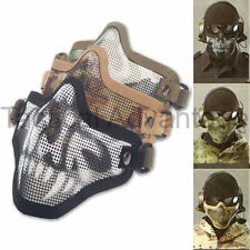 Mesh Airsoft Mask Metal Half Face Protection Strike Style Protector Air Soft UK