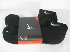 NIKE MENS 6 PACK DRI-FIT LOW CUT SOCKS Black/White -SX4447 001- sz L 8-12
