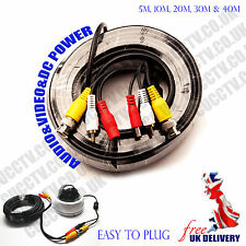 5m,10m,15m,20m,30m,40m BNC Video Power Cable For CCTV Camera DVR Security System