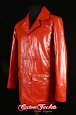 Men's FIGHT CLUB ORIGINAL RED Hollywood Movies Style Coat Real Leather Jacket