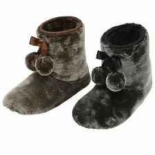 Womens Dunlop Bree Luxurious Faux Fur Soft Ladies Slipper Boots