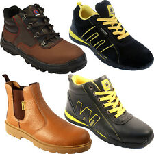 NEW MENS SAFETY TRAINERS SHOES BOOTS WORK STEEL TOE CAP ANKLE SIZE 4-13UK LADIES