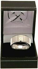 WEST HAM UNITED FC STAINLESS STEEL CREST BAND RING COMPLETE IN GIFT BOX WHFC