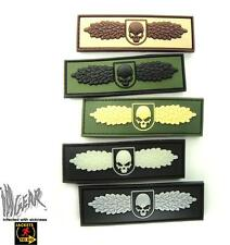 JTG SOF Skull Badge 3D PVC HOOK AND LOOP Patch ill Gear
