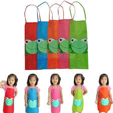CUTE KIDS CHILDREN WATERPROOF CARTOON PRINT APRON OVERCLOTHES FOR PAINTING BF4K