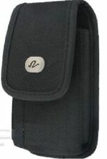 New Black Tough Vinyl Vertical Belt Clip Holster Pouch Case for Cell Phones