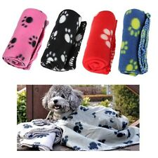 1X Winter Warm Cozy Pet Paw Print Pet Cat Dog Fleece Soft Blanket Beds Mat Cover