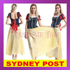 Snow White Ladies Costume Cosplay Fancy Dress Disney Prince Holloween Fairytale