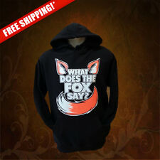 WHAT DOES THE FOX SAY? Pullover Hoodies (New) S, M, L, XL, 2XL, 3XL