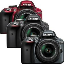 Nikon D3300 DSLR Camera with 18-55mm Lens (Black, Red, Grey)