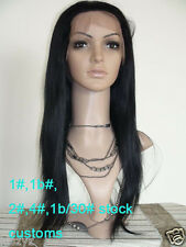 100% remy indian human hair full lace wig silky straight 8''-22'' stock sell