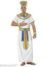 MENS WHITE EGYPTIAN PHARAOH PRINCE KING ANCIENT EGYPT FANCY DRESS COSTUME OUTFIT
