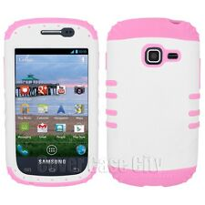 Samsung Galaxy Discover R740 / Centura S738c Impact Case Cover White Light Pink