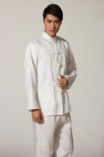 chinese men's kung-fu tai-chi Clothes jacket coat Pants suit size M-XXXL