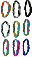 NEW! Braided Sports Headbands Hair Ties Softball - Team Colors - 40 Available