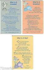 XPRESS YOURSELF GRANDPARENTS MINI KEEPSAKE WALLET CARD SENTIMENTAL VERSE 3.25x2""