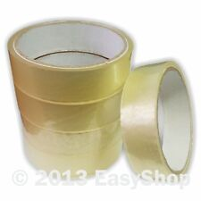 25mm X 25m Clear Packing Carton Box Shipping Tape Rolls Extra Strong Adhesive
