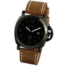 INFANTRY MILITARY Mens DATE Display Army Quartz Sport Wrist Watch Leather Strap
