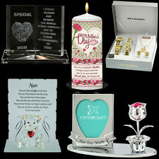 MOTHERS DAY GIFT PRESENT PLAQUE CRYSTAL NECKLACE SET CANDLE PHOTO FRAME MUG BOX