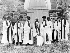 1895 AMERICAN BLACKS IN LIBERIA AFRICAN CLERGY PHOTO Largest Sizes