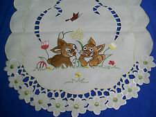 "New Lovely Easter Bunnies Embroidery table runners 16""x45"" and 16""x54"""