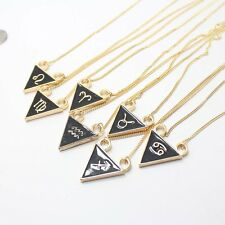 """24"""" Personality Trendy Triangle Constellation Sign Lady Choker Necklace 8 Color"""