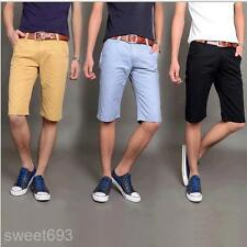 New Mens Fashion UK style Summer Casual Shorts Slim Fit Fifth Short Pants MKD122