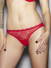 Ann Summers Womens Pure Lace Brazilian Briefs Red Panties Sexy Lingerie New