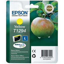 GENUINE EPSON APPLE SERIES YELLOW PRINTER INK CARTRIDGE C13T12944010 / T1294