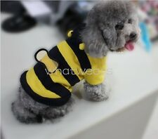 Pet Dog Doggie Cat Bumble Bee Costume Apparel Hoodies Clothes GAU